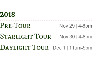 Pre-Tour, Starlight Tour, Daylight Tour 2018